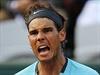 Španěl Rafael Nadal po úspěšně zvládnuté výměně.