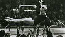 Věra Čáslavská - triumf na olympiádě v Mexiku 1968