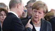 N�mecká kanclé�ka Angela Merkelová hovo�í s ruským prezidentem Vladimirem... | na serveru Lidovky.cz | aktu�ln� zpr�vy