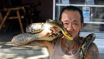 Indonésan v okolí Ubudu na ostrově Bali (vyfocen autorem v červenci 2011).