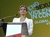 Angelina Jolie na konferenci o znásilňování při válečných konfliktech.