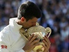 Novak Djokovi�, v�t�z Wimbledonu 2014.