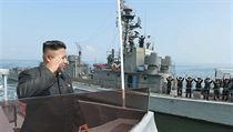Budete hořce litovat, hrozil nepřátelům při vojenském cvičení Kim Čong-un
