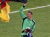 Manuel Neuer s německou vlajkou.