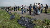 Místo dopadu trosek se nachází uprostřed slunečnicových a pšeničných polí mezi dvěma malými vesnicemi. Trosky jsou roztroušeny na ploše asi 20 čtverečních kilometrů. Podle ukrajinské vlády separatisté převezli 38 mrtvých těl na doněckou prosekturu. Asistovali jim přitom údajně lidé se silným ruským přízvukem.