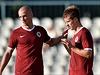 Martin Ne�por (vlevo) a Luká� Mare�ek ze Sparty se radují z prvního gólu. | na serveru Lidovky.cz | aktu�ln� zpr�vy