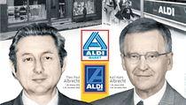 Theo Paul a Karl Hans Albrechtovi, zakladatelé �et�zce diskont� Aldi. | na serveru Lidovky.cz | aktu�ln� zpr�vy