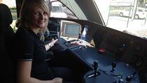 Helena Záleská, první strojvůdkyně vlaků Leo Express. Na trať z Prahy do Bohumína se poprvé postaví 29. července