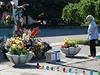 Tichá pieta na náměstí Kulikovo pole v centru Oděsy, kde při květnových...