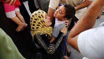 Výjev z nemocnice, Gaza.