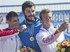 Stupně vítězů. Zleva: Miroslav Kirčev, Josef Dostál, Rene Holten Poulsen.