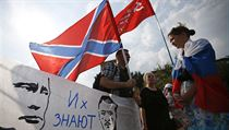 Demonstranti volají po záchraně ruského národa