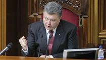 Ukrajinsk� prezident Petro Poro�enko.