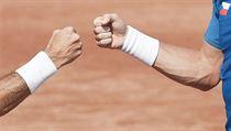 ZLATÉ RUCE. Radek Štěpánek (vlevo) a Tomáš Berdych společně dvakrát vyhráli Davis Cup.