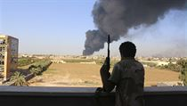 Boje v Libyi (ilustrační snímek).