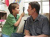 Chlapectví - malý Mason (Ellar Coltrane) se svým tátou (Ethan Hawke)