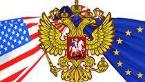 USA, EU, Rusko. Ilustrace Richard Cortés. | na serveru Lidovky.cz | aktu�ln� zpr�vy