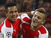 Sanchez a Wilshere z Arsenalu slaví gól. | na serveru Lidovky.cz | aktu�ln� zpr�vy