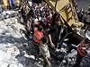 Po dopadu palestinských raket na své území obnovil Izrael letecké údery proti...