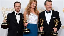 Z cen Emmy se raduj� herci Takov� modern� rodinky a Pern�kov�ho t�ty