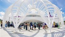 Nov� budova floridsk� univerzity, kter� je zam��en� na v�du, v�zkum a inovaci....