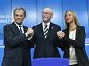 Nov� zvolený unijní �prezident� a polský premiér Donald Tusk (vlevo), dosavadní... | na serveru Lidovky.cz | aktu�ln� zpr�vy