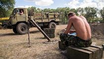 Ukrajin�t� voj�ci p�i odpo�inku.