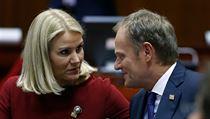 D�nsk� premi�rka Helle Thorning-Schmittov� a Donald Tusk