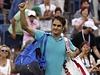 Švýcar Roger Federer po prohře na US Open.