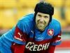 Petr Čech na tréninku české reprezentace.