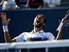 Marin Čilič slaví vítězství nad Tomášem Berdychem.