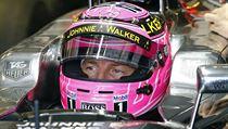 Jenson Button před kvalifikací na Velkou cenu Itálie.