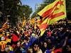 Demonstrace v Barceloně pro nezávislost Katalánska