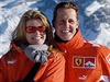 Corrina Schumacherov� a Michael Schumacher.