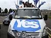 Příznivci skotské nezávislosti míří na sraz ve městě Glasgow.