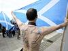 Samostatné Skotsko požaduje i tento muž ve městě Glasgow.