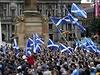 Shromáždění stoupenců samostatného Skotska ve městě Glasgow.