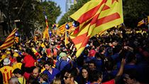 Demonstrace v Barcelon�. Katal�nsko chce nez�vislost