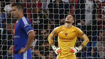 Tomáš Vaclík a Marek Suchý po inkasovaném gólu od Realu Madrid.