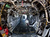 Útroby bojového letounu.