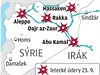 Letecké údery na pozice Islámského státu v Sýrii 23. září 2014.
