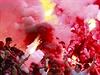 Beng�lsk� ohn� v kotli fanou�k� Slavie b�hem derby se Spartou.