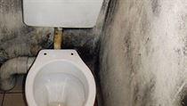 Záchod téže firmy na autobusovém nádraží v Tours v září 2012
