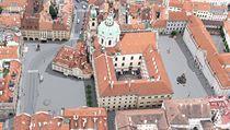 Architekti vypracovali 40 návrhů, podle nichž by se mohlo v budoucnu proměnit Malostranské náměstí v Praze.