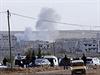 Ostřelování města Kobani (Ajn al-Arab).