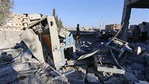 USA a spojenci bombardují pozice Islámského státu v syrském městě Rakka (ilustrační snímek).