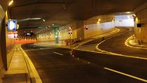 Tunelový komplex Blanka po dokončení stavební části v září 2014.