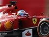 Fernando Alonso na okruhu v Suzuce.