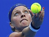 Nadhoz! Petra Kvitová na turnaji v Pekingu.