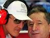 Michael Schumacher (vlevo) a Jean Todt.